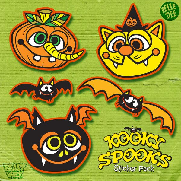 KOOKY SPOOKS Sticker Pack