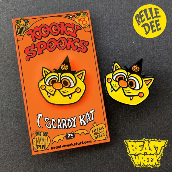KOOKY CAT Enamel Pin