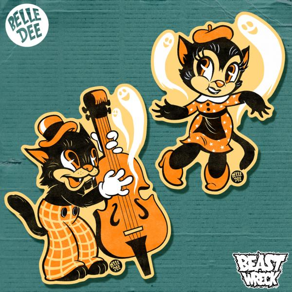 HALLOWEEN HEPCATS Sticker Sheet