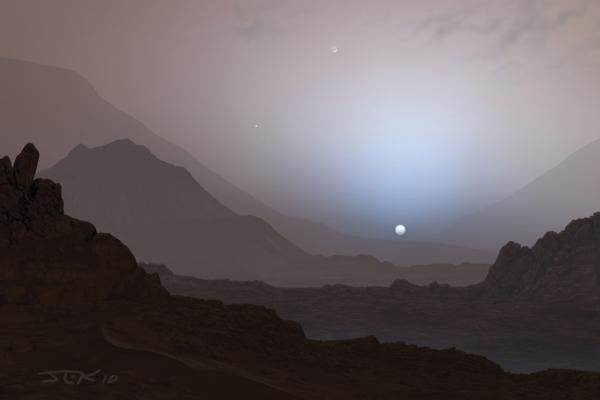 Mars Canyon Sunset
