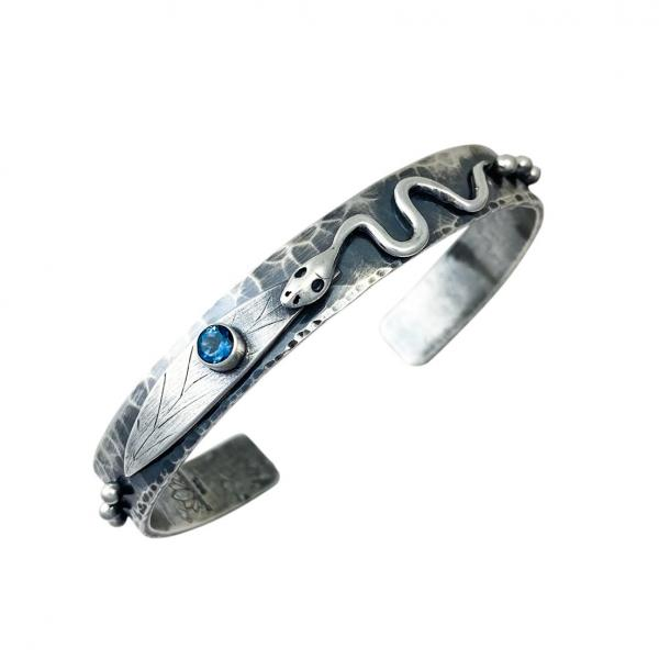 Snake Spirit Cuff with London Blue Topaz