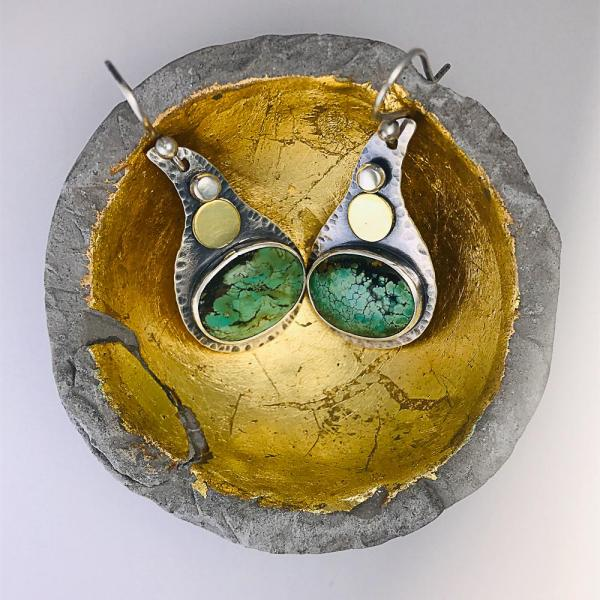 Turquoise Earth Drop Earrings
