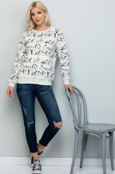 Sale! Penguin Fleece Lined Sweatshirt