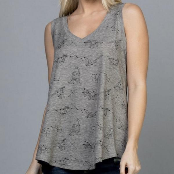 Dino Constellations Super Soft Printed Tank Tunic