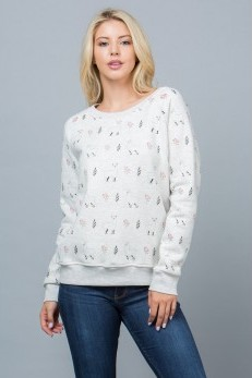 Sale! Llama Fleece Lined Sweatshirt