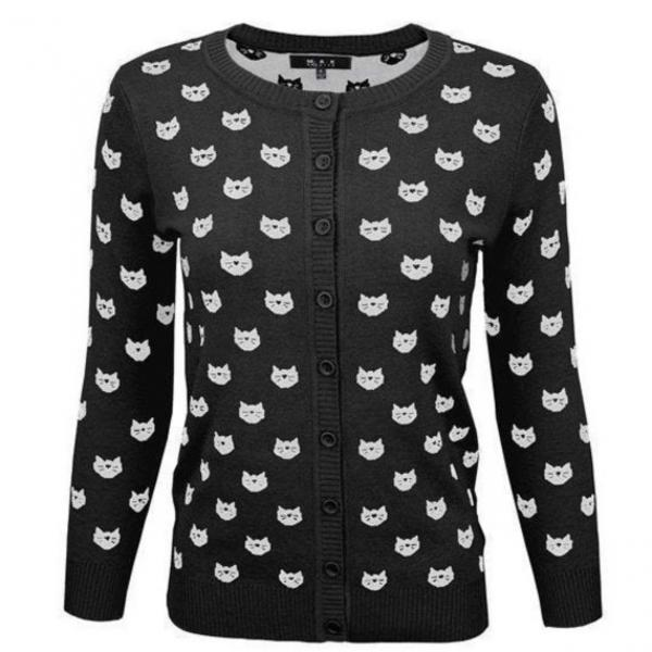 Black and White Cat Cardigans