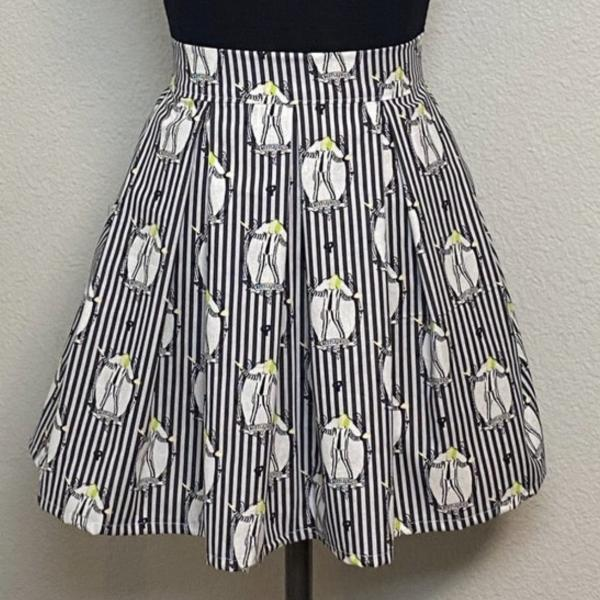 Beetlejuice High Waisted Pleated Skater Skirt