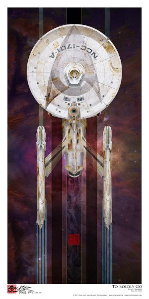 """To Boldly Go"" Archival print"