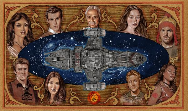 Aim To Misbehave Firefly playmat mousepad