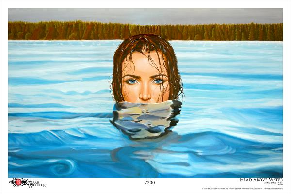 """Head Above Water"" Archival Print"