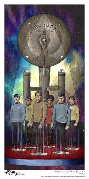 """Beam Us Down Scotty"" Archival print"