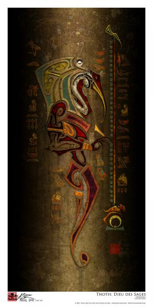 """Thoth"" archival print"