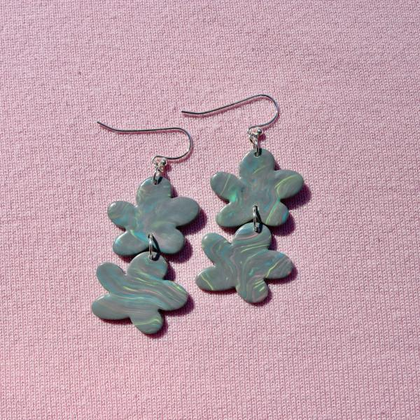 Two Drop Flower Dangly Earrings picture