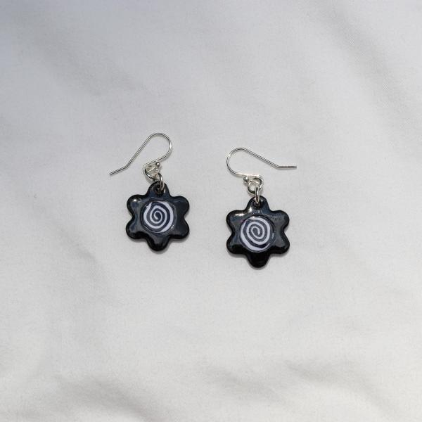 Swirly Flower Dangly Earrings