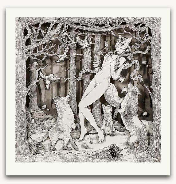 The Hunt limited edition print