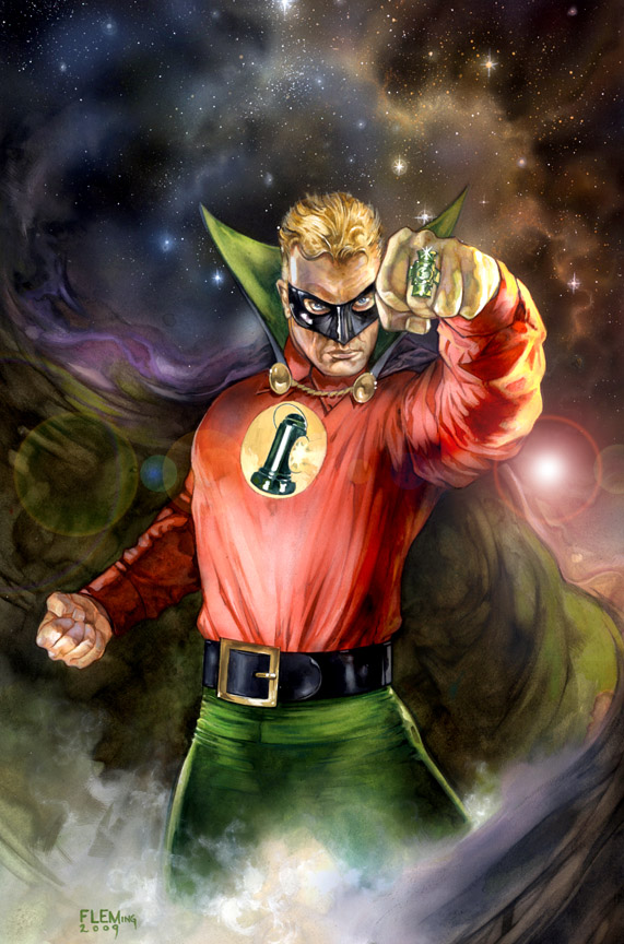 Allen Scott Green Lantern signed print