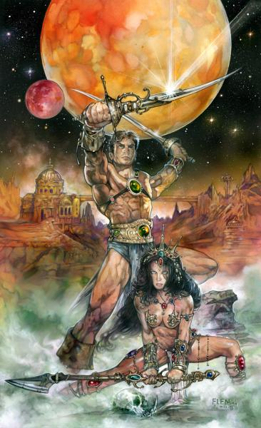 John Carter Warlord of Mars & Dejah Thoris print