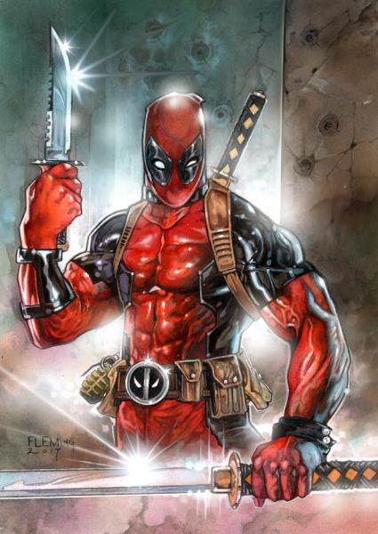 Deadpool Signed print