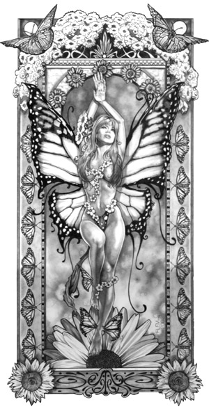 MONARCH FAIRY signed Limited Edition Print