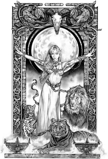 LION QUEEN signed Limited Edition Print