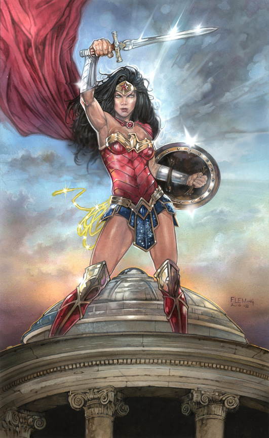 Wonder Woman signed print