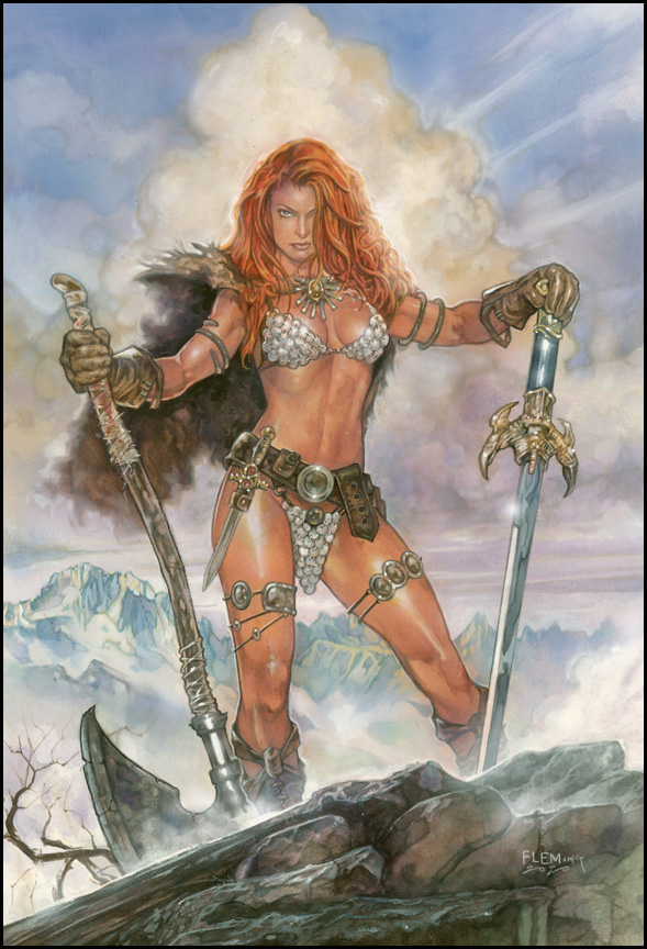 *NEW* RED SONJA signed print