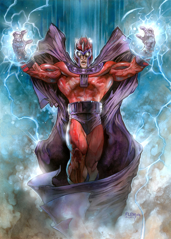 MAGNETO (X-men) SIGNED PRINT