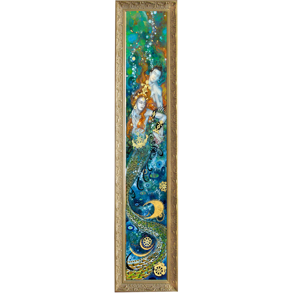 Depths of Love (Mermaids)- custom framed giclee on canvas