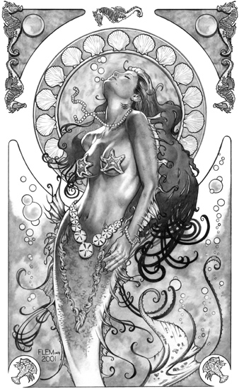 Mermaid signed Limited Edition Print