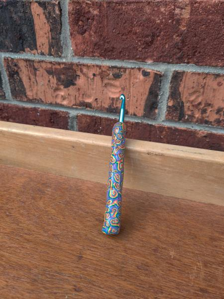 Rainbow Swirls US size J - 6mm Crochet Hook