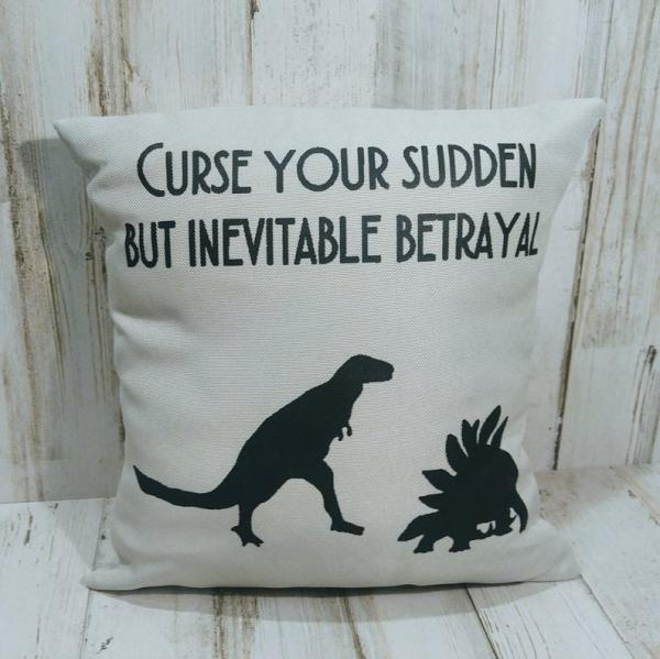 Curse Your Sudden But Inevitable Betrayal Small Pillow picture