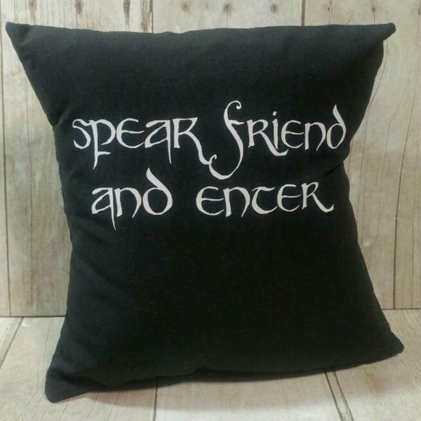 Speak Friend and Enter Small Pillow