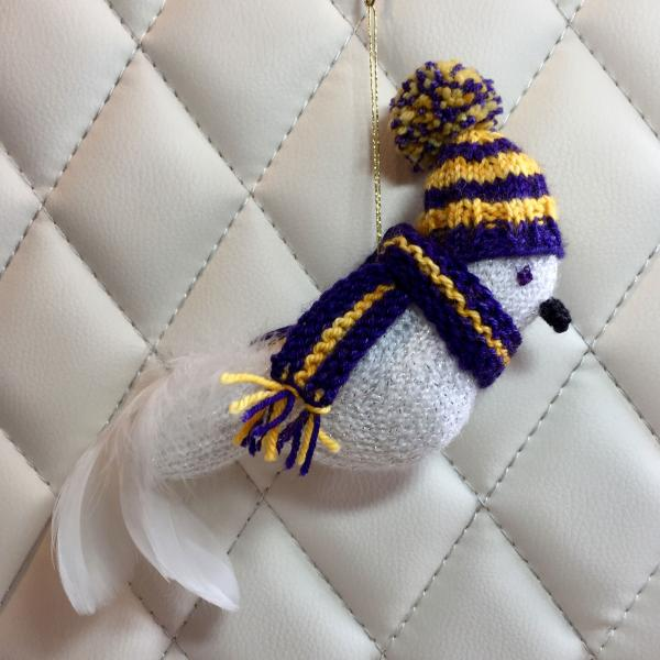 Gold and Purple School Colors Bird (James Madison)