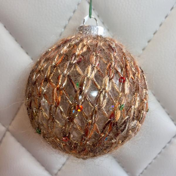 Faun Metallic and Sequined Hand Knit Bulb