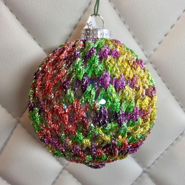 Multicolored Metallic Hand Knit Bulb
