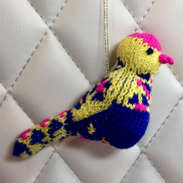 Easter Fair Isle Bird Ornament