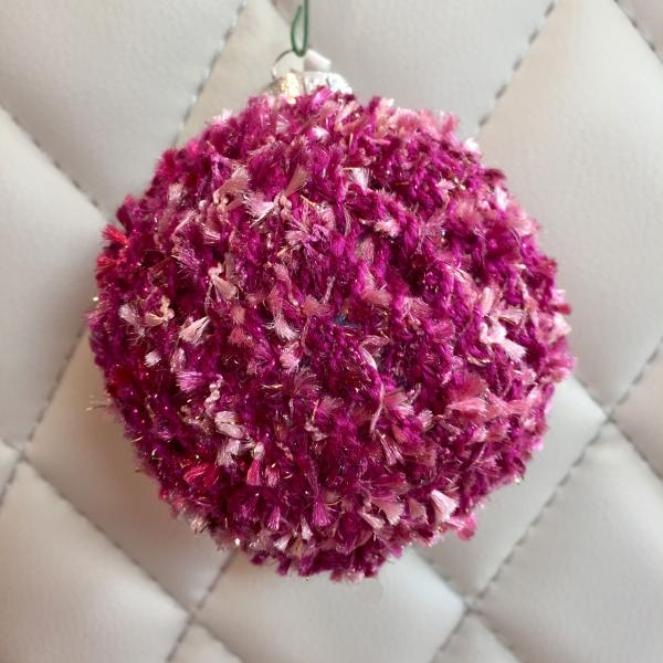 Tufted Rose/Violet Hand Knit Bulb