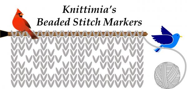 Knittimia's Beaded Stitch Markers and Ornaments