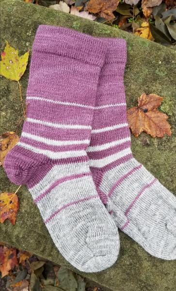 1910 Shepherd Socks-Ombre Dove Grey and Eclipse-Women's Size 6-8