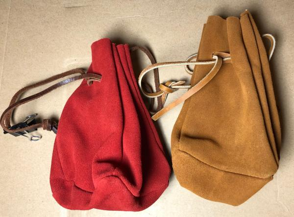 Suede Leather Dice Bag