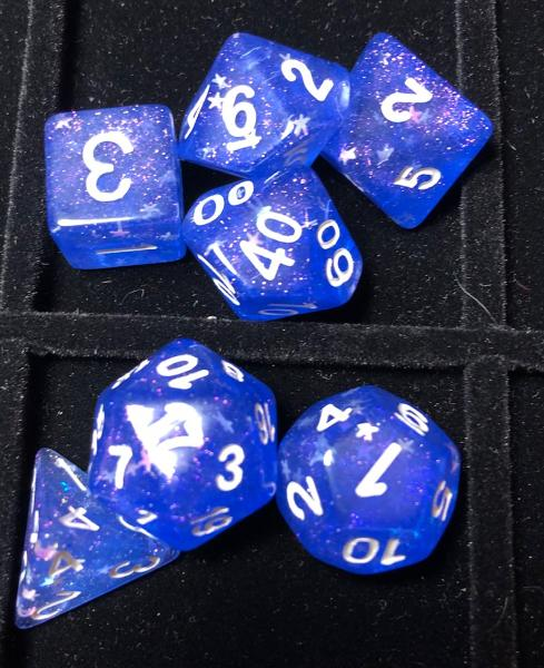 Chameleon Glitter Blue/Purple Dice Set