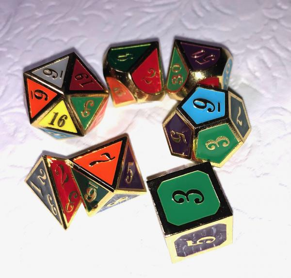 Multi-color Metal Dice Set