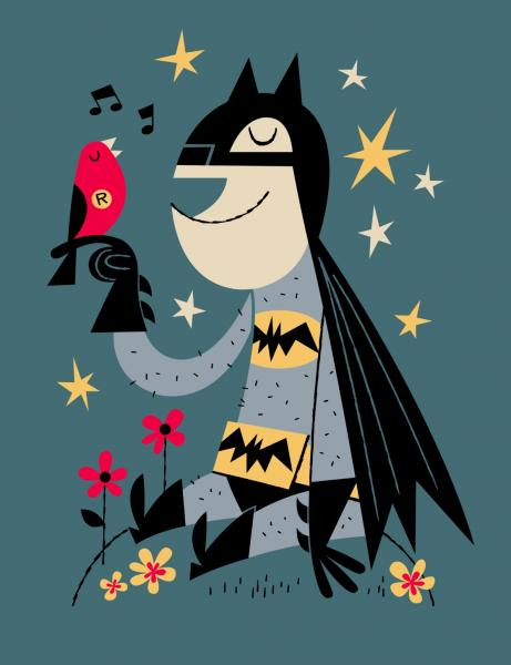 Bat Friends 4-Ever Art Print