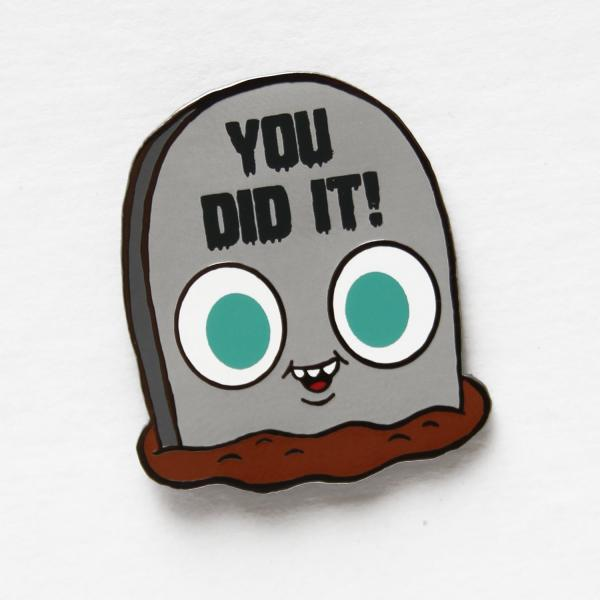 """Tombstimmy"" hard enamel pin"
