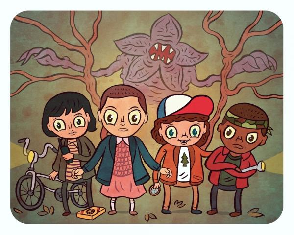 """Stranger Things"" 8 x 10 print"