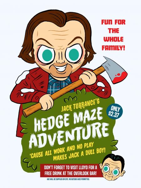 """Hedge Maze Adventure"" 12 X 16 poster"