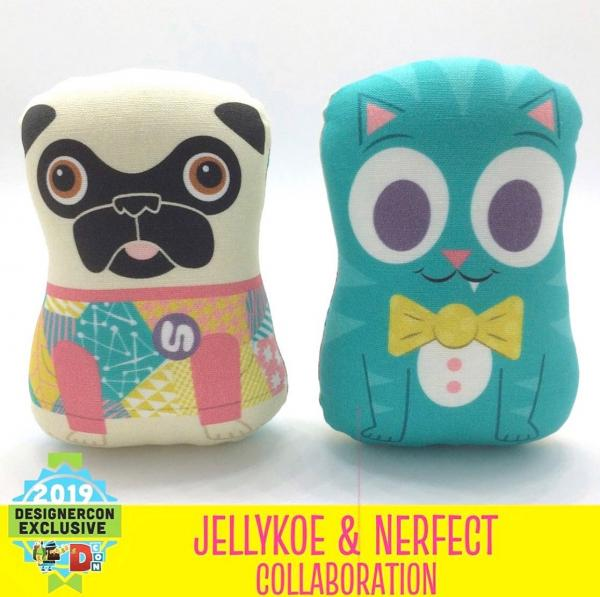 Nerfect collab plush pug