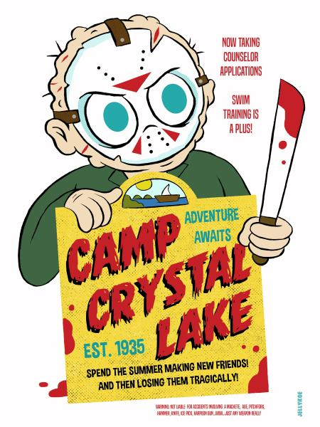 """Camp Crystal Lake"" 12 x 16 poster"