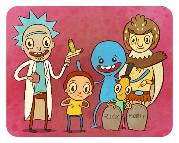 """Rick and Morty"" 8 X 10 art print"