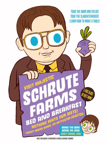 """Schrute Farms"" 12 x 16 poster"